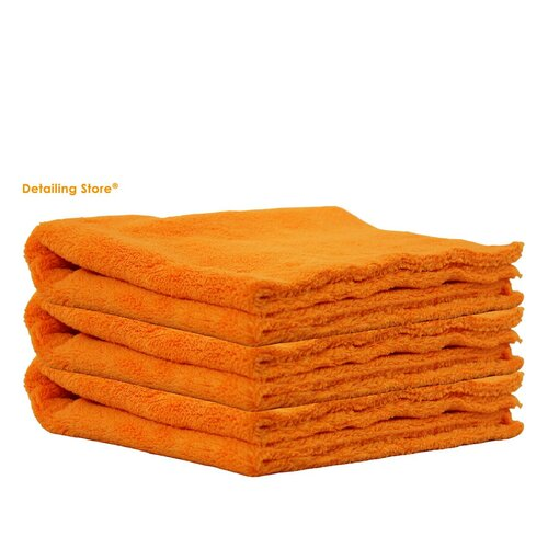 3er Set Crazy Orange Edgeless Poliertuch 40x40 / 550GSM