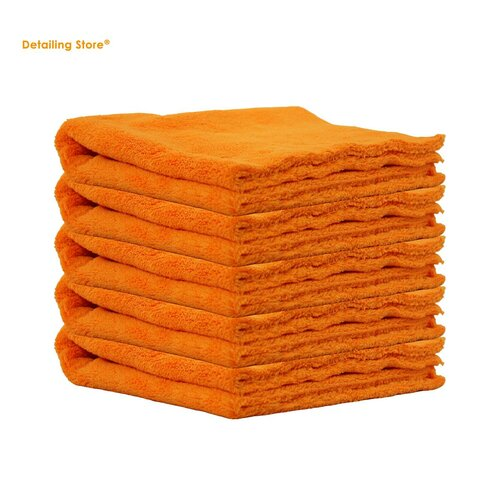 5er Set Crazy Orange Edgeless Poliertuch 40x40 / 550GSM