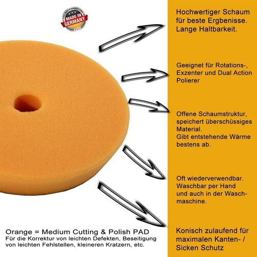 8er Set DS1 Polish Pads 90mm